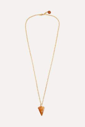 Sirconstance - Gold-plated Citrine Necklace - Orange