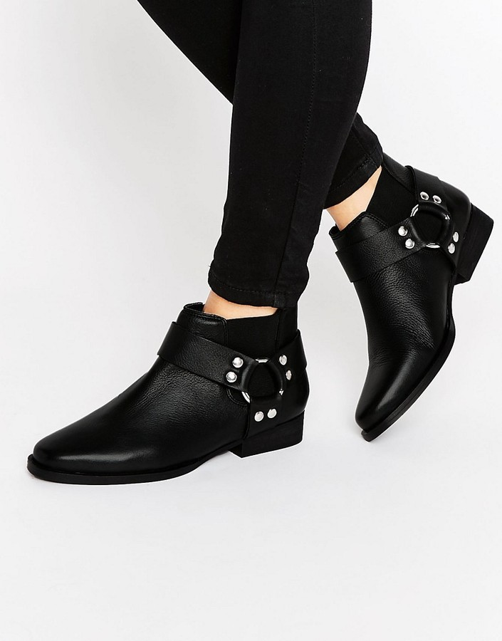 ASOS ALTICO Leather Western Chelsea Boots