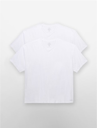 Calvin Klein cotton classic big + tall 2 pack crewneck t-shirt