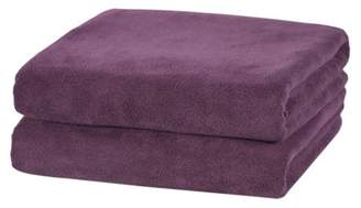 """Unbranded Microfiber Bath Towel Set - 2 Piece (30"""" x 60""""), Soft,Absortbent and Fast Drying Solid Colors"""