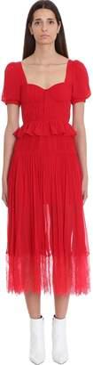 Self-Portrait Self Portrait Dress In Red Polyester