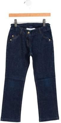 Christian Dior Girls' Logo-Embellished Jeans