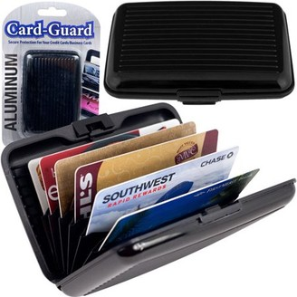 Trademark Aluminum Credit Card Wallet, RFID Blocking Case, Black