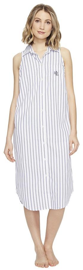 Lauren Ralph LaurenLAUREN Ralph Lauren - Sleeveless Cotton Poplin Ballet Gown Women's Pajama
