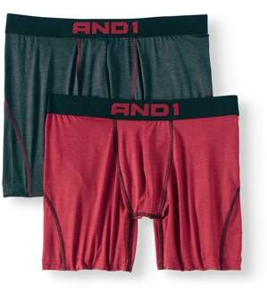 AND 1 AND1 Men's Performance Boxer Brief with Contour Pouch, 2-Pack