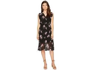 BB Dakota Sarah Sheer Printed Dress Women's Dress