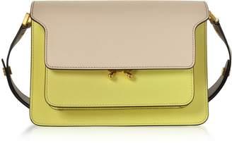 Marni Color Block Saffiano Leather Trunk Bag