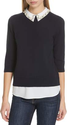 Ted Baker Lunna Embellished Collar Top