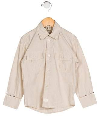 Burberry Boys' Stripe Button-Up Shirt
