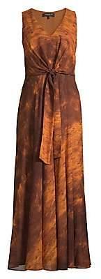 Lafayette 148 New York Women's Ambrosia Sunset Sky Silk Maxi Dress