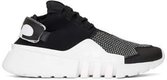 Y-3 Black and White Ayero Sneakers