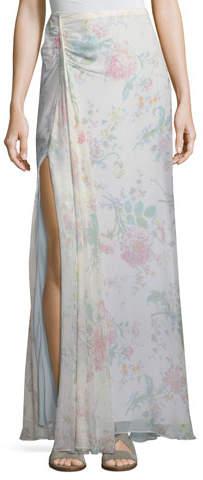 Ralph Lauren Collection Victoria Floral-Print A-Line Silk Maxi Skirt
