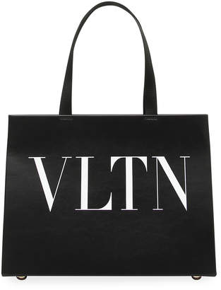 Valentino VLTN Shopping Tote Bag