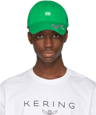 Balenciaga Green BB Cap