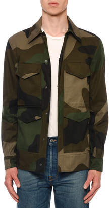Valentino Men's Camo Army Field Jacket