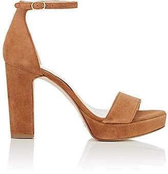 FiveSeventyFive Women's Suede Ankle-Strap Platform Sandals - Lt. brown