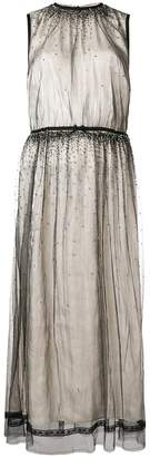 Prada crystal-embellished tulle dress