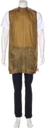 Rick Owens Longline Sleeveless Popover Jacket