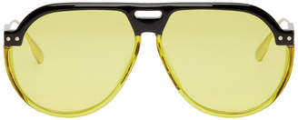 Christian Dior Yellow DiorClub3 Aviator Sunglasses