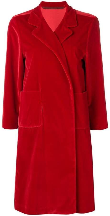 Daniela Gregis single breasted drape coat