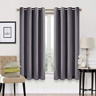 EASELAND 99% Blackout Curtains 2 Panels Set Room Darkening Drapes Thermal Insulated Solid Grommets Window Treatment Pair for Bedroom