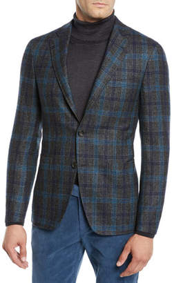 Canali Men's Plaid Two-Button Jacket