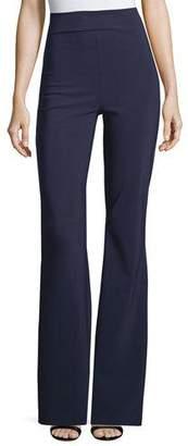 Chiara Boni Venus High-Rise Flare Jersey Pants