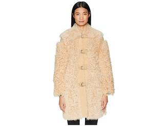 RED Valentino Kalgan, Shearling, Suede and Stud Coat