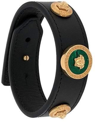 Versace front logo emblem bracelet