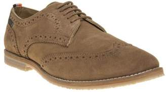 Superdry New Mens Natural Tan Ripley Suede Shoes Lace Up