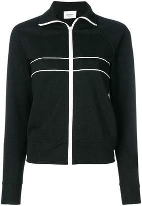 Dondup stripe detail zipped sweatshirt