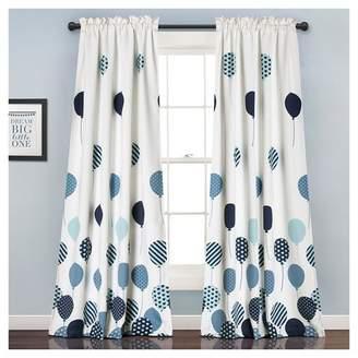 "Lush Decor Flying Balloon Room Darkening Window Curtain Set Blue (52""X84"") - Lush Dcor"