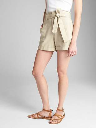 "Gap High Rise 4"" Utility Shorts with Tie-Belt"