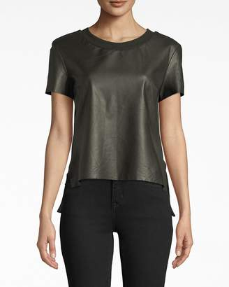 Nicole Miller Leather T-shirt