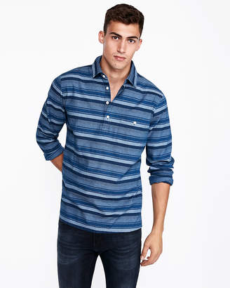 Express Slim Striped Popover Shirt