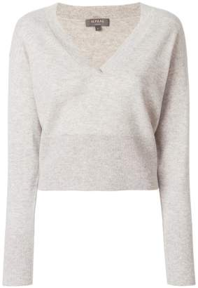 N.Peal cashmere Deep v-neck cropped sweater