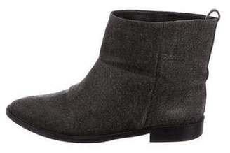 Theyskens' Theory Canvas Ankle Boots