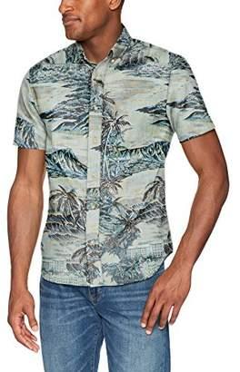 Reyn Spooner Men's Diamond Head Spooner Kloth Tailored Fit Hawaiian Shirt