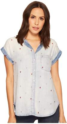 Stetson Tencel Short Sleeve Blouse Women's Clothing