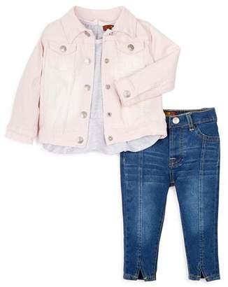 7 For All Mankind Girls' Shirt, Jeans & Denim Jacket Set - Baby