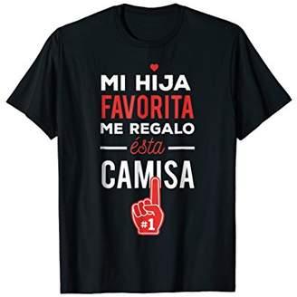 Regalo Mi Hija Favorita me esta Camisa Dia del Padre T-Shirt