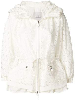 Moncler zipped embroidered jacket