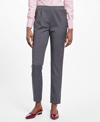 Brooks Brothers Slim Cropped Tropical Wool Pants