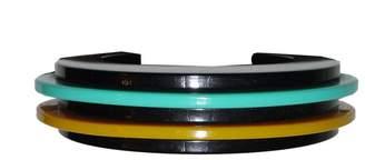 Bill Schiffer Plastic Retro Multi Colored Cuff Bracelet