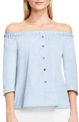 Vince Camuto Solid Off-the-Shoulder Blouse