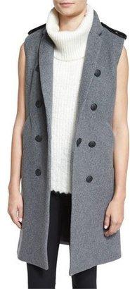 Rag & Bone Ashton Tailored Wool-Blend Vest, Heather Gray $650 thestylecure.com