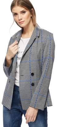 at Debenhams Red Herring Black And White Houndstooth Checked Double  Breasted Jacket