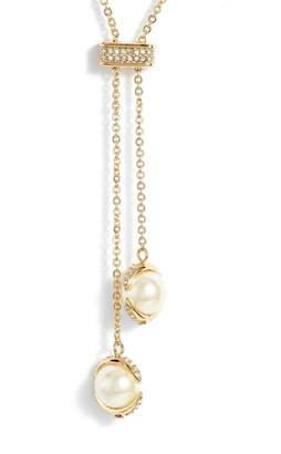 Vince Camuto Imitation Pearl Slider Necklace