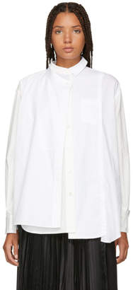 Sacai White Panelled Shirt