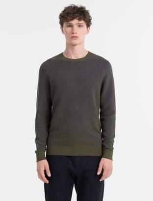Calvin Klein slim fit cotton wool structured sweater